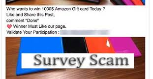 win amazon gift card survey scam