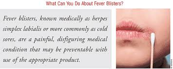 advising patients about cold sores