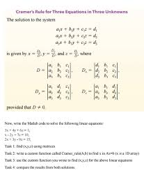 in linear algebra cramer s rule is an explicit fo collection of solutions linear algebra system solve