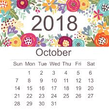 Calendar Doc October 2018 Calendar Word Doc Download Free Printable