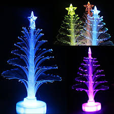 Colorful Led Fiber Optic Christmas Tree Small Night Light 2015 ...