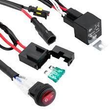 12v 40a relay switch control wiring harness kit for off road atv Atv Wiring Harness one lead heavy duty led off road light wiring harness,suitable for high output light bars power up the largest 300 watt led off road light bar wiring harness for atv