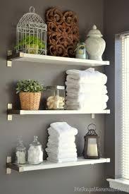 diy bathroom wall storage. Modren Bathroom Metal Shelves Via Thefrugalhomemaker Throughout Diy Bathroom Wall Storage