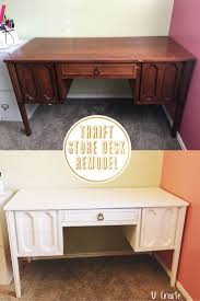 remodel furniture. thrift store desk remodel no sanding priming with enamel paint furniture e