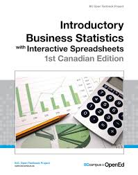 open textbook library introductory business statistics interactive spreadsheets 1st canadian edition