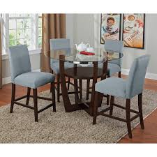 Dining Room Set Counter Height Dining Enjoyable Glass Round Dining Table With Shelves And Grey