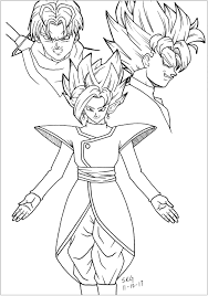 Check out our dragon ball z art selection for the very best in unique or custom, handmade pieces from our wall décor shops. Black Goku Trunks And Zamasu Dragon Ball Z Kids Coloring Pages