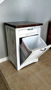 wooden trash can bin tilt out trash bin rustic tilt out white trash can cabinet wood