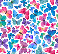 Butterfly Pattern Interesting Watercolour Butterfly Pattern Fabric Elenao'neillillustration