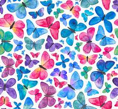 Butterfly Pattern Interesting Watercolour Butterfly Pattern Fabric Elenao'neillillustration