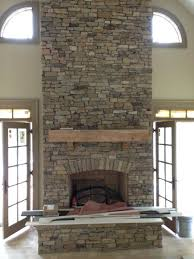 fireplaces stacked stone veneer fireplace fireplceporch diy installing dry stack over brick