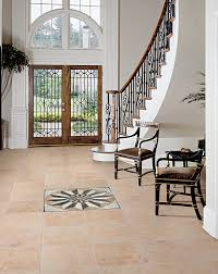 For an elegant and sophisticated entrance, highly polished Florence Beige  porcelain tile, with its rich cream tones, lend itself to a variety of  decors ...
