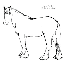 Coloring Page Clydesdale Horse Pages To Print Lifestyleandtravelinfo