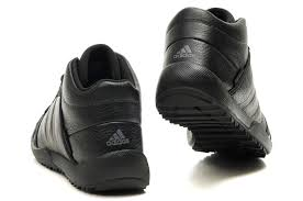 men s adidas outdoor leather black hiking shoes