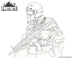 You have the choice ! Fortnite Soldier Coloring Pages Printable