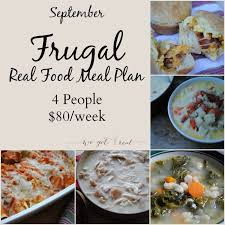 four week meal planner september frugal meal plan frugal meals frugal and meals