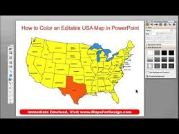 Editable Map Of Usa For Powerpoint How To Color A State County Or Country Map In A Powerpoint Slide
