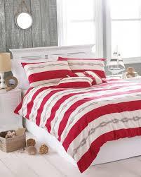 red striped seaside single duvet cover pillowcase bedding set