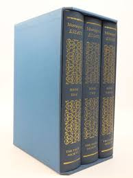 the canterbury tales volumes written by chaucer geoffrey<br  110 00 photo of montaigne s essays 3 volumes written by de montaigne michael<br