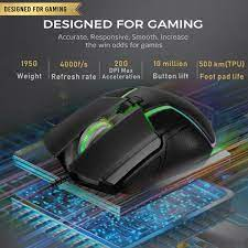 Wired mouse Gaming 7 Color LED Gaming Mouse Usb Backlit 6400DPI For PC –  Yellowpriceau