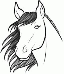 horses drawings easy. Delighful Horses Simple Horse Head Drawing How To Sketch A Horse Step By Step Sketch And Horses Drawings Easy S