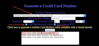 Elfqrin Card Generate - Credit Cards