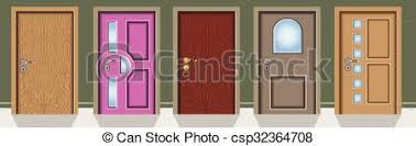 Different Doors Vector