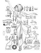 Oude Egypte Kleurplaten Gratis Printbare Kleurplaten