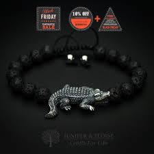 crocodile bracelet gator charm bracelet florida crocodile florida gators mens jewelry women s