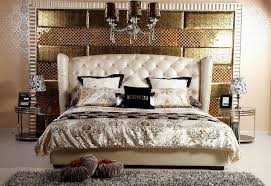transitional bedroom design. Transitional Bedroom Design With Beige Leather Bed A