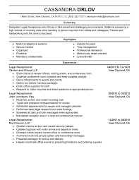 Receptionist Sample Resume Sample Resumes For Receptionist