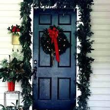 Front Door Garland Hanging Around As Doors