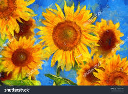 sunflowers vincent van gogh style digital imitation of post impressionism oil painting