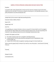 Letter Of Appeal Sample Template New 28 Appeal Letter Templates Free Sample Example Format Download