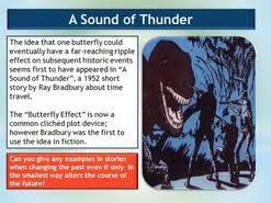 essay on sound of thunder  essay on sound of thunder
