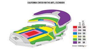 Escondido Californa Center For The Arts Escondido Saalplan
