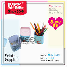 Functions Of Package Design Hot Item Imee Desktop Stationery 2 In 1 Multi Functions Pen Holder And Metal Tin Coin Packaging Box