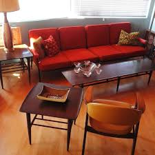 Two Piece Living Room Set Atomic Living 1960s Three Piece Living Room Coffee Table Set