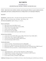 How To Make A High School Resume High School Resume No Experience
