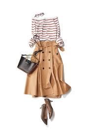 トレンチスカートはベージュ以外にもカラー豊富トレンドスカート