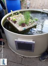 fish tank the fish create the nutrients that are used in the hydroponic system