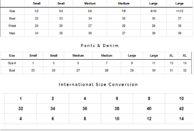 Lush Clothing Size Chart Size Chart Lush Lux Label