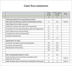 Cash Flow Statement Template 7 Cash Flow Statement