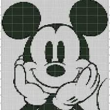 ミッキーマウス手芸クロスステッチアイロンビーズドット絵