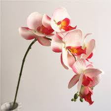 Super Deal #51bf - 1Pc Realistic Artificial Butterfly Orchid 7 <b>Heads</b> ...