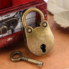 Tools & Collectable Hardware 1 Set Mini Vintage Old Antique Archaize Style  Padlock Key Lock With Key Collectables ubi.uz