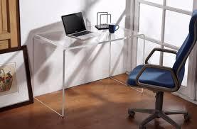 sleek office desk. 18 Sleek Acrylic Computer Desk Designs For Small Home Office