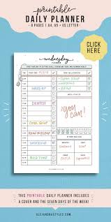 Day Planner Hourly Hourly Planner Template Daily Schedule Printable Hourly Daily