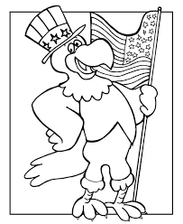 Veterans Day Printable Coloring Pages The Eagle Holding Us Flag