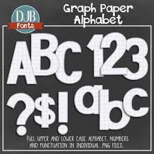 Individual Graph Paper Alphabet Clip Art Graph Paper Alphabet Letters